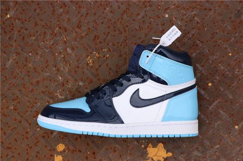 """乔丹/Air Jordan 【GET毒版】aj1 AJ1 乔丹1代 乔丹1 乔1 Air Jordan 1 """"UNC Patent"""" 货号:CD0461-401 乔1北卡漆皮脚趾 40-45"""