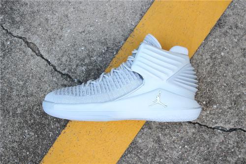 """乔丹/Air Jordan【真标公司级】乔丹XXXII代 乔丹32代 乔32 AJ32 Air Jordan 32""""Pure Platinum""""货号:AH3348-007 乔32高帮白银 40-47"""