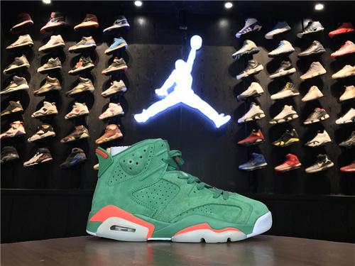 """乔丹/Air Jordan【真标公司级】aj6 AJ6 乔6 乔丹6 乔丹6代高帮 篮球鞋男鞋 Air Jordan 6 """"Gatorade"""" 货号:384664-145 乔6白绿橙佳得乐 40-47"""