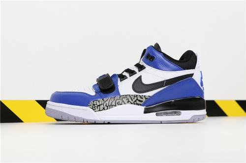 """乔丹/Air Jordan【真标超级A】Don C x Jordan Legacy 312 """"Storm Blue"""" 货号:AQ4160-104 乔丹联名三合一低帮黑蓝 40-46"""