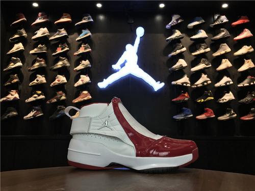 乔丹/Air Jordan【超级A】aj19 AJ19 乔丹19代 乔19 乔丹19 Air Jordan XIX (19)  货号:307547-102 乔19白红 40-44