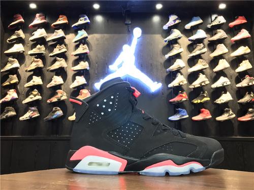 """乔丹/Air Jordan【真标最高版】aj6 AJ6 乔丹6代 乔6 乔丹6 Air Jordan 6 """"Black Infrared""""货号:384664-023 乔6黑红反光 40.5-47.5"""