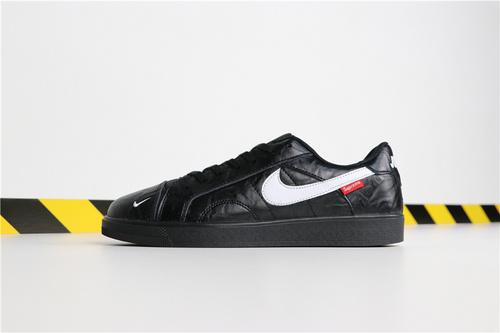 乔丹/Air Jordan 【真标超A】aj1 AJ1 乔丹1代 AJ1 Supreme x Air Jordan 1 LOW 货号:AJ7747-001 乔1低帮Supreme联名黑白 36-44