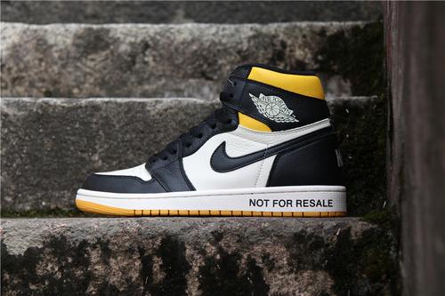 """乔丹/Air Jordan【真标裁片级】AJ1 aj1 乔丹1代 乔1 Air Jordan 1 NRG """"No L's"""" 货号:861428-107 乔1禁止转售黑黄脚趾 36-46"""