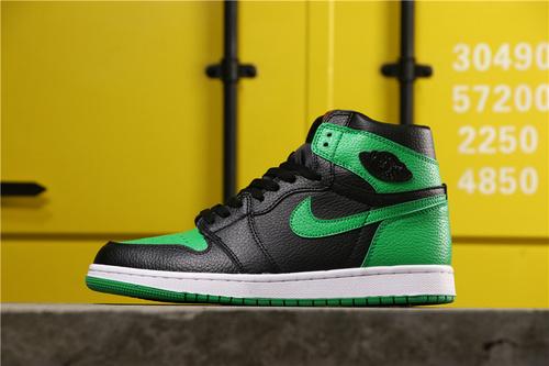 """【超A】乔丹/Air Jordan aj1 AJ1 乔丹1代 乔丹1 乔1 Air Jordan 1 """"Pine Green""""货号:555088-030 乔1黑绿36-45"""
