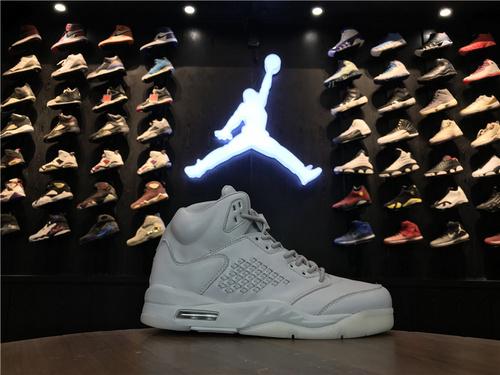 """乔丹/Air Jordan【真标公司货】aj5 AJ5 乔丹5代 乔5 乔 Air Jordan 5 Premium """"Pure Platinum""""货号:881432-003 乔5巅峰纯白 40-47"""