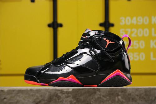 乔丹/Air Jordan【真标公司级】aj7 AJ7 乔丹7代 乔7 乔丹7 Air Jordan 7 Retro  货号:304775-035 乔7黑橙漆皮 40-47.5
