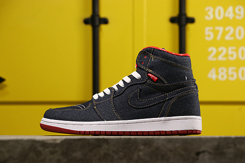 乔丹/Air Jordan AJ1 aj1 乔丹1代 乔1 乔丹1代中帮系列  Air Jordan 1  货号:556298-010 乔1中帮牛仔布 36-45