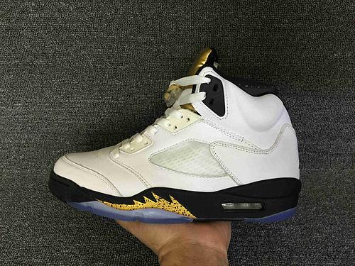 """乔丹/Air Jordan  AJ5 乔丹5代 乔5 乔丹5 篮球鞋 男鞋 真标 头层 裁片级 1:1 Air Jordan 5 """"Olympic"""" 乔5金牌配色 货号:136027-133 41-46"""