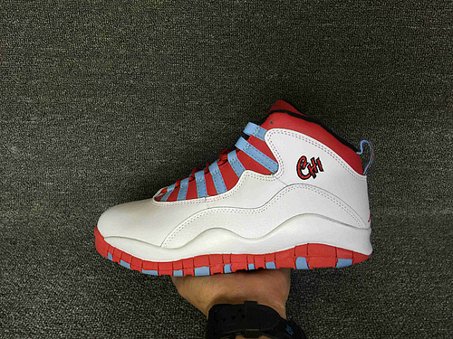 """乔丹/Air Jordan 【超A】aj10 AJ10 乔丹10代 乔10 乔丹10 篮球鞋 男鞋 Air Jordan 10 """"Chicago Flag"""" 货号:310805-114 乔10白红 4"""