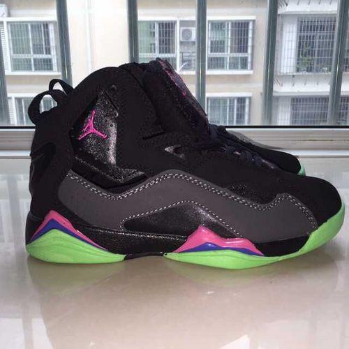 乔丹/Air Jordan 【超A】AJ7.5 乔丹7.5 代 乔7.5 乔丹7.5 乔丹7.5代 加强版 高帮 篮球鞋 女鞋 乔7.5代加强版黑绿椰子 36-40