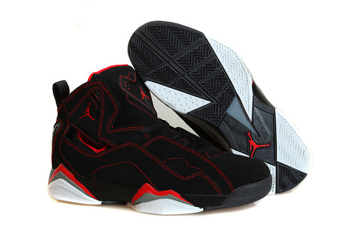 乔丹/Air Jordan 【超A】AJ7.5 乔丹7.5 代 乔7.5 乔丹7.5 乔丹7.5代 加强版 高帮 篮球鞋 女鞋 乔7.5代加强版黑红线 36-40