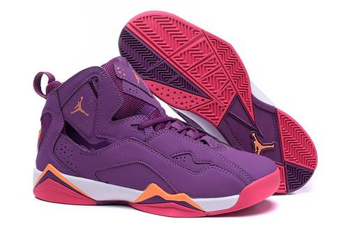 乔丹/Air Jordan 【超A】AJ7.5 乔丹7.5 代 乔7.5 乔丹7.5 乔丹7.5代 加强版 高帮 篮球鞋 女鞋 乔7.5代加强版骚紫粉 36-40