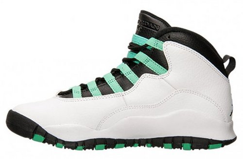 乔丹/Air Jordan 【超A】AJ10 乔丹10代 乔10 乔丹10 篮球鞋 女鞋 乔10白/黑/绿 36-40