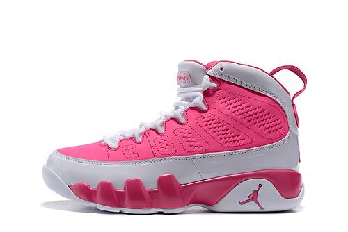 乔丹/Air Jordan 【PU】AJ9 乔丹9代 乔9 乔丹9 篮球鞋 高帮 高帮乔9 女鞋 乔9白桃红 36-40