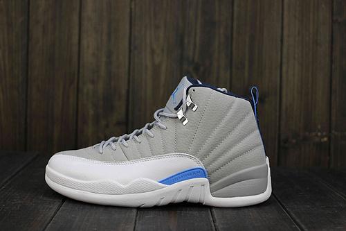 """乔丹/Air Jordan 乔丹12代 AJ12 乔12 乔丹12 篮球鞋 男鞋 Air Jordan 12 """"Wolf Grey"""" 乔12灰蓝 货号:130690-007 41-47"""