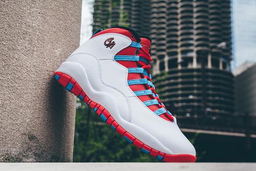 """乔丹/Air Jordan AJ10 乔丹10代 乔10 乔丹10 篮球鞋 男鞋 1:1裁片级真标原装标  Air Jordan 10 """"Chicago Flag"""" 货号:310805-114 乔10白红 41-47"""