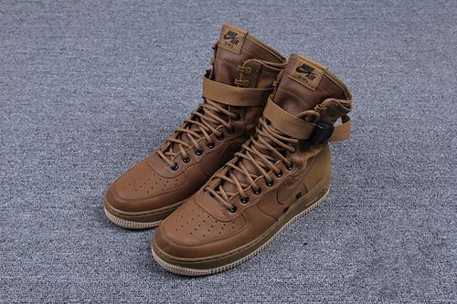 """耐克/NIKE 【高清图】【真标公司级】Nike Special Forces Air Force 1 工装风来袭 空军一号机能特种部队系列高帮Boots靴""""Faded Olive-Gum Light"""