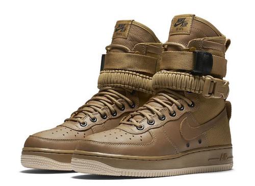 """耐克/NIKE 【图】【真标公司级】Nike Special Forces Air Force 1 工装风来袭 空军一号机能特种部队系列高帮Boots靴""""Faded Olive-Gum Light B"""