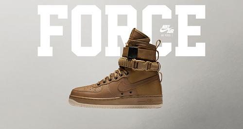 """耐克/NIKE 【上脚图】【真标公司级】Nike Special Forces Air Force 1 工装风来袭 空军一号机能特种部队系列高帮Boots靴""""Faded Olive-Gum Light"""