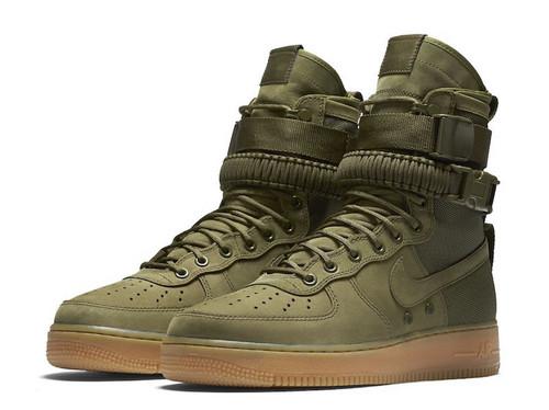"""耐克/NIKE 【图】【真标公司级】Nike Special Forces Air Force 1 工装风来袭 空军一号机能特种部队系列高帮Boots靴""""Faded Olive/Faded""""橄榄绿棕"""