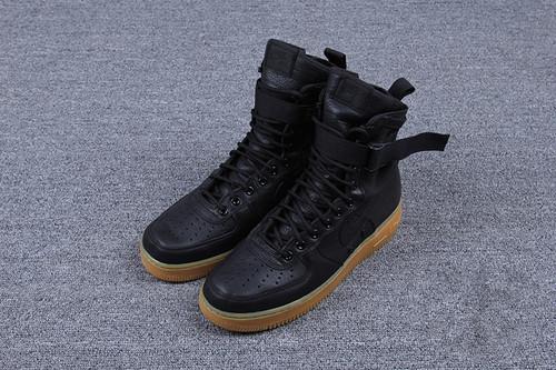 """耐克/NIKE 【高清图】【真标公司级】Nike Special Forces Air Force 1 工装风来袭 空军一号机能特种部队系列高帮Boots靴""""Black/Gum Light Brown"""