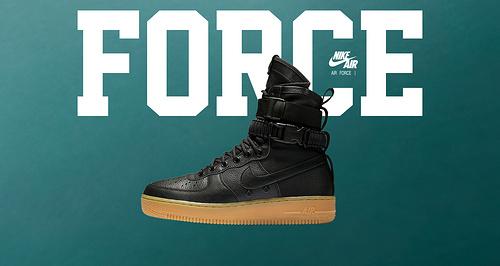 """耐克/NIKE 【上脚图】【真标公司级】Nike Special Forces Air Force 1 工装风来袭 空军一号机能特种部队系列高帮Boots靴""""Black/Gum Light Brown"""