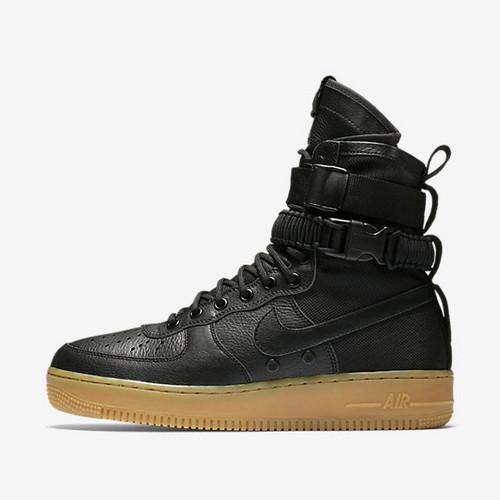 """耐克/NIKE 【图】【真标公司级】Nike Special Forces Air Force 1 工装风来袭 空军一号机能特种部队系列高帮Boots靴""""Black/Gum Light Brown""""黑"""