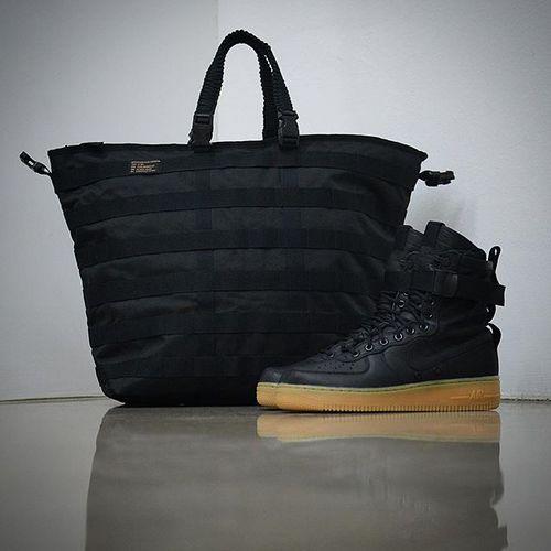 """耐克/NIKE 【工装风来袭】【真标公司级】Nike Special Forces Air Force 1 空军一号机能特种部队系列高帮Boots靴""""Black/Gum Light Brown""""黑棕"""