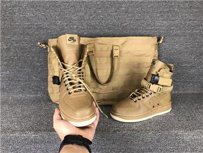 耐克/NIKE 【谍照】【真标公司级】Nike Special Forces Air Force 1 空军一号机能特种部队系列高帮Boots靴 男女款 橄榄绿棕 米白 黑棕 深棕色 859202-33