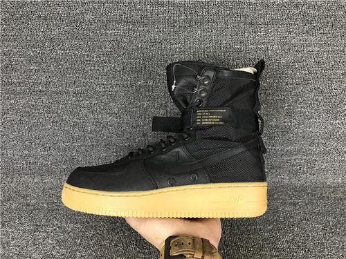 """耐克/NIKE【真标公司级】Nike Special Forces Air Force 1 工装风来袭 空军一号机能特种部队系列高帮Boots靴""""Black/Gum Light Brown""""黑棕 货号"""
