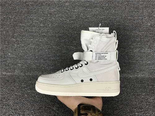 """耐克/NIKE【真标公司级】Nike Special Forces Air Force 1 工装风来袭 空军一号机能特种部队系列高帮Boots靴""""Beige/Golden Beige-Linen """"米"""