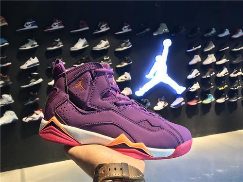 乔丹/Air Jordan 【真标超级A】aj7.5 AJ7.5 乔丹7.5 代 乔7.5 乔丹7.5 乔丹7.5代加强版 高帮 篮球鞋 女鞋 乔7.5代加强版 紫粉 货号:342774-517 36