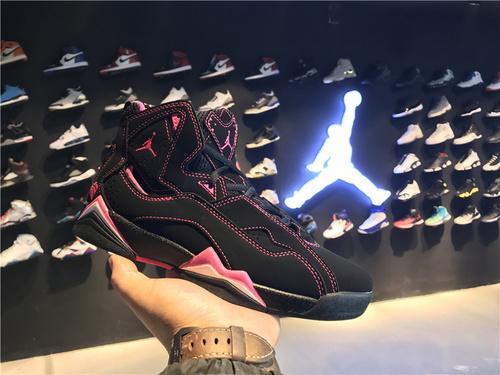 乔丹/Air Jordan 【真标超级A】aj7.5 AJ7.5 乔丹7.5 代 乔7.5 乔丹7.5 乔丹7.5代加强版 高帮 篮球鞋 女鞋 乔7.5代加强版 黑粉情人节 情人节 货号:343795