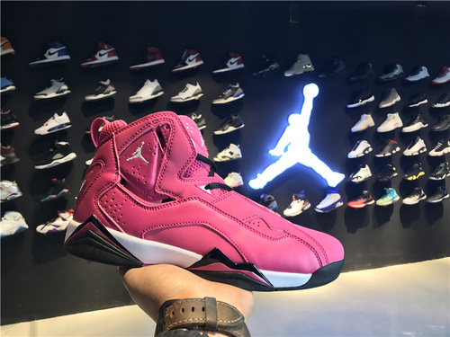 乔丹/Air Jordan 【真标超级A】aj7.5 AJ7.5 乔丹7.5 代 乔7.5 乔丹7.5 乔丹7.5代加强版 高帮 篮球鞋 女鞋 乔7.5代加强版 全粉情人节 货号:342774-609