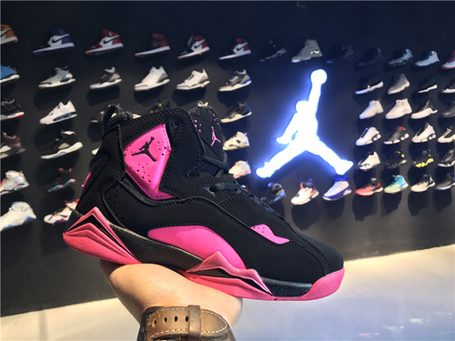 乔丹/Air Jordan 【真标超级A】aj7.5 AJ7.5 乔丹7.5 代 乔7.5 乔丹7.5 乔丹7.5代加强版 高帮 篮球鞋 女鞋 乔7.5代加强版 黑粉 货号:343795-018 36
