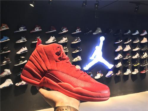 """乔丹/Air Jordan 【真标公司货】 aj12 AJ12 乔丹12代 乔丹12 乔12 篮球鞋 男鞋 1:1裁片级原装正标 Air Jordan 12 """"Cherry""""货号:130690-110 乔12圣诞红 乔12中国红 40-47"""
