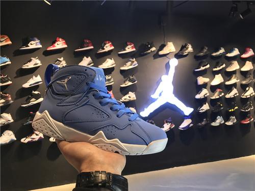 """乔丹/Air Jordanaj7 AJ7 乔丹7代 乔7 乔丹7 篮球鞋 女鞋 Air Jordan 7 """"Pantone"""" 乔7北卡蓝 乔7白蓝 货号:货号:304775-400 36-40"""