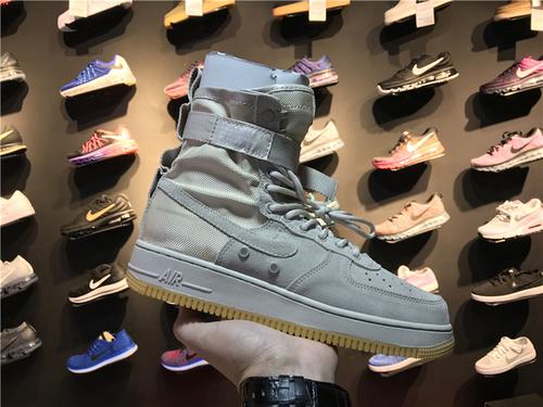 """耐克/NIKE【真标公司级】Nike Special Forces Air Force 1 工装风来袭 空军一号机能特种部队系列高帮Boots靴 Nike SF-AF 1 """"String/Gum""""灰白"""