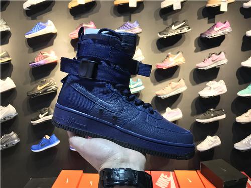 """耐克/NIKE【真标公司级】Nike Special Forces Air Force 1 工装风来袭 空军一号机能特种部队系列高帮Boots靴 Nike WMNS SF-AF1 """"Binary Bl"""