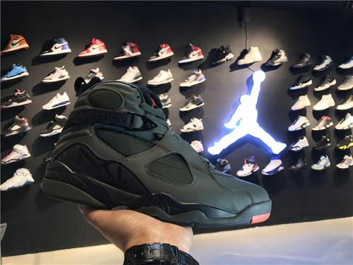 """乔丹/Air Jordan【真标裁片级】aj8 AJ8 乔丹8代 乔8 乔丹8 篮球鞋 男鞋 高帮篮球鞋 原装标 钢印注胶孔 1:1 Air Jordan 8 """"Take Flight""""  乔8军绿"""