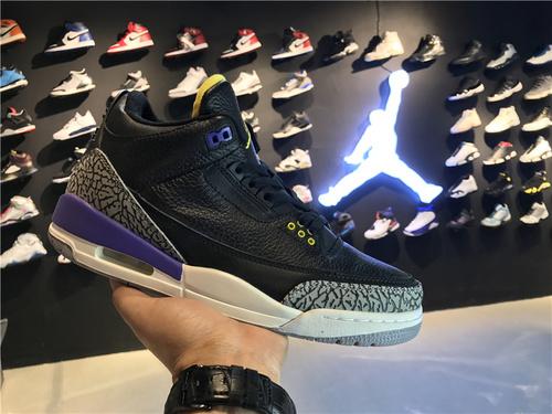 乔丹/Air Jordan aj3 AJ3 乔丹3代 乔3 乔丹3 篮球鞋 男鞋 Air Jordan 3 乔3黑紫 40-46