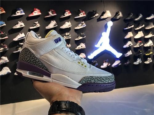乔丹/Air Jordan aj3 AJ3 乔丹3代 乔3 乔丹3 篮球鞋 男鞋 Air Jordan 3 乔3白紫 40-46