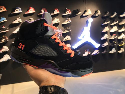 """乔丹/Air Jordan aj5 AJ5 乔丹5代 乔5 乔丹5 高帮系列 篮球鞋 男鞋 Air Jordan 5 Shawn Marion""""Away""""PE 货号:136027-058 乔5马里昂客"""