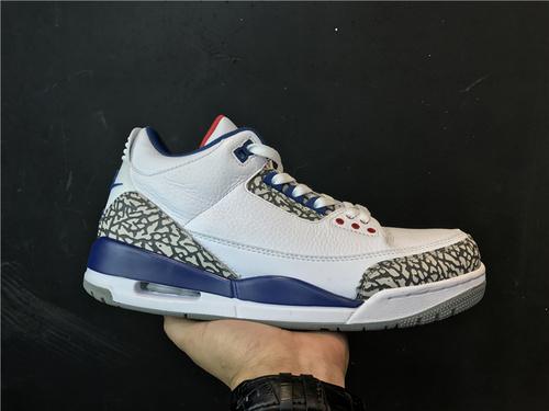 """乔丹/Air Jordan 【真标东莞】aj3 AJ3 乔丹3代 乔3 乔丹3 Air Jordan 3 """"True Blue""""货号:854262-106 乔3真蓝 乔3白蓝 41-47"""
