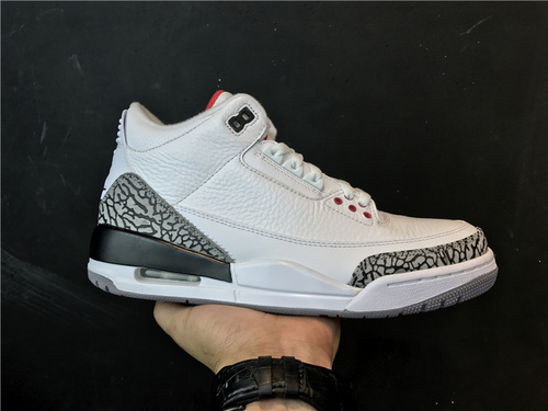"""乔丹/Air Jordan 【真标东莞】aj3 AJ3 乔丹3代 乔3 乔丹3 Air Jordan 3 Retro """"White Cement""""货号:136064-105 乔3白水泥 41-43"""