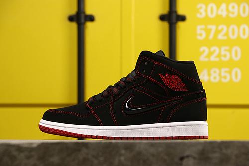 乔丹/Air Jordan AJ1 aj1 乔丹1代 乔1 乔丹1代中帮系列 Air Jordan 1 MID 货号:CK5665-062 乔1中帮黑红糖果 36-47