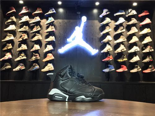 乔丹/Air Jordan【童鞋】aj6 AJ6 乔6 乔丹6 乔丹6代高帮 篮球鞋 童鞋 Air Jordan 6 乔6黑猫 28-35