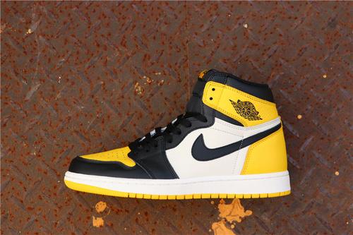 """乔丹/Air Jordan【真标公司级】aj1 AJ1乔丹1代 Air Jordan 1 Retro High OG """"Yellow Toe""""货号:AR1020-700 乔1新黑黄脚趾 40-46"""