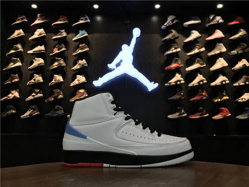 """乔丹/Air Jordan 【真标公司货】aj2 AJ2 乔丹2代 乔丹2 乔2 乔丹2代高帮系列 Air Jordan 2""""Alumni""""货号:917360-105 乔2匡威联名白兰 41-47.5"""